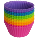Colorful Silicone Muffin Cups- $6.50 with Free Shipping- Clearance to MOVE