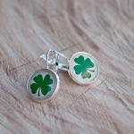 Handcrafted Four Leaf Clover Earrings- $8 with Free Shipping