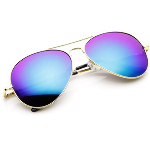 Madison & Mulholland Polarized Mirror Classic Blue Aviator Style Sunglasses- $17 with Free Shipping